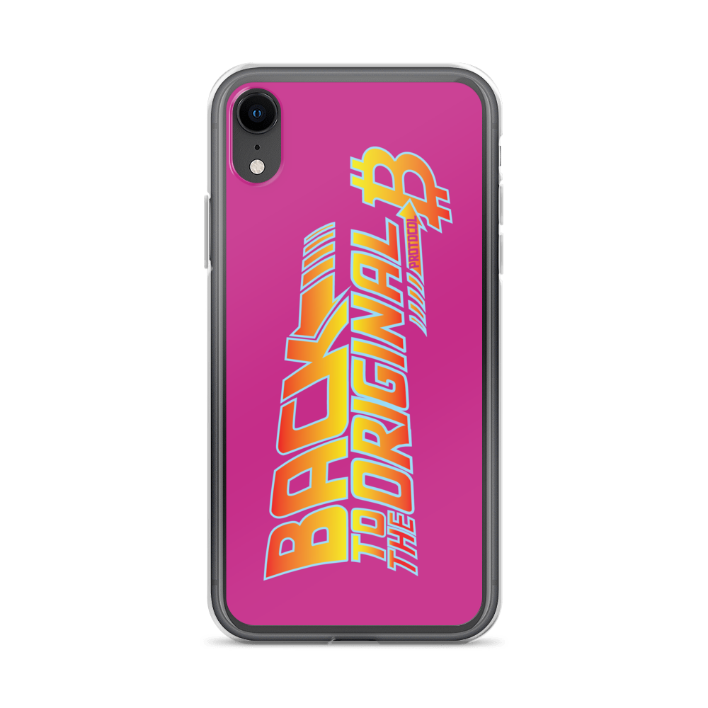 Back To The Original Bitcoin Protocol iPhone Case Pink iPhone XR  - zeroconfs