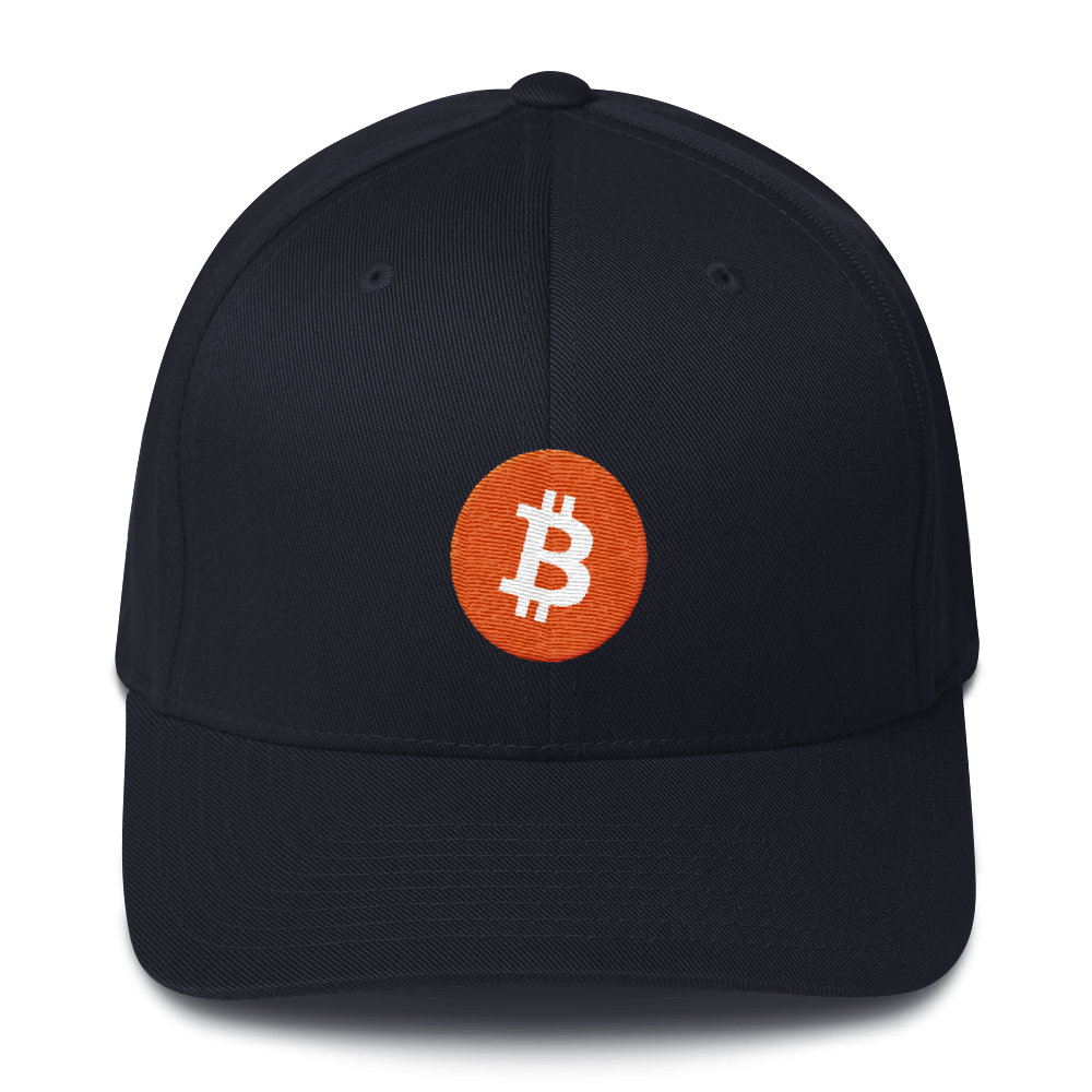 Bitcoin Core Flexfit Cap Dark Navy S/M - zeroconfs