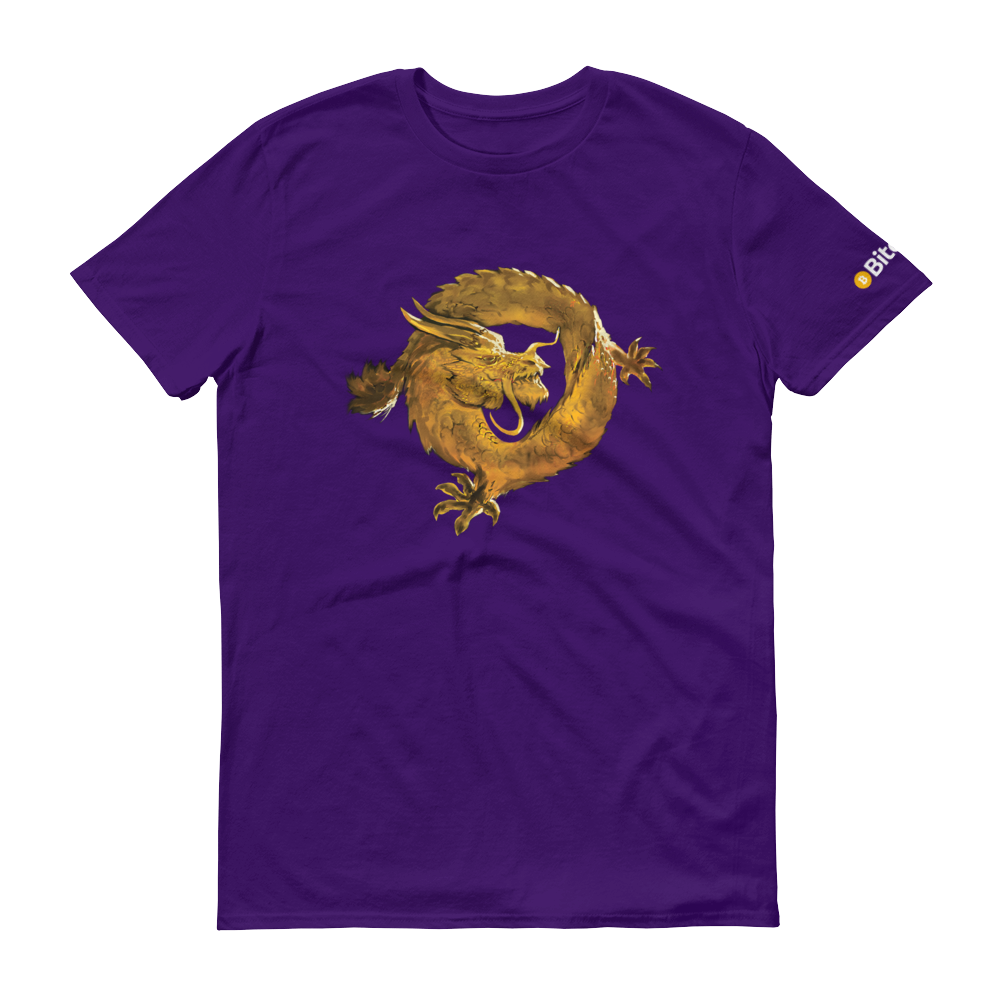Bitcoin SV Woken Dragon Short-Sleeve T-Shirt Purple S - zeroconfs