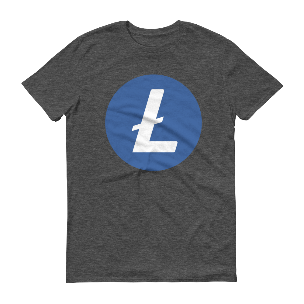 Litecoin Short-Sleeve T-Shirt Heather Dark Grey S - zeroconfs
