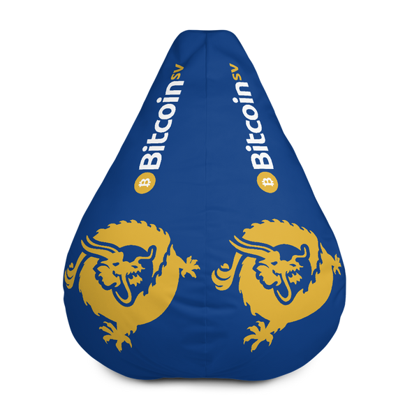 Bitcoin SV Dragon Navy Bean Bag Cover Only Default Title  - zeroconfs
