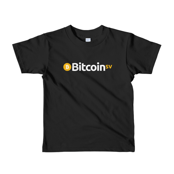 Bitcoin SV Short Sleeve Kids T-Shirt Black 2yrs - zeroconfs