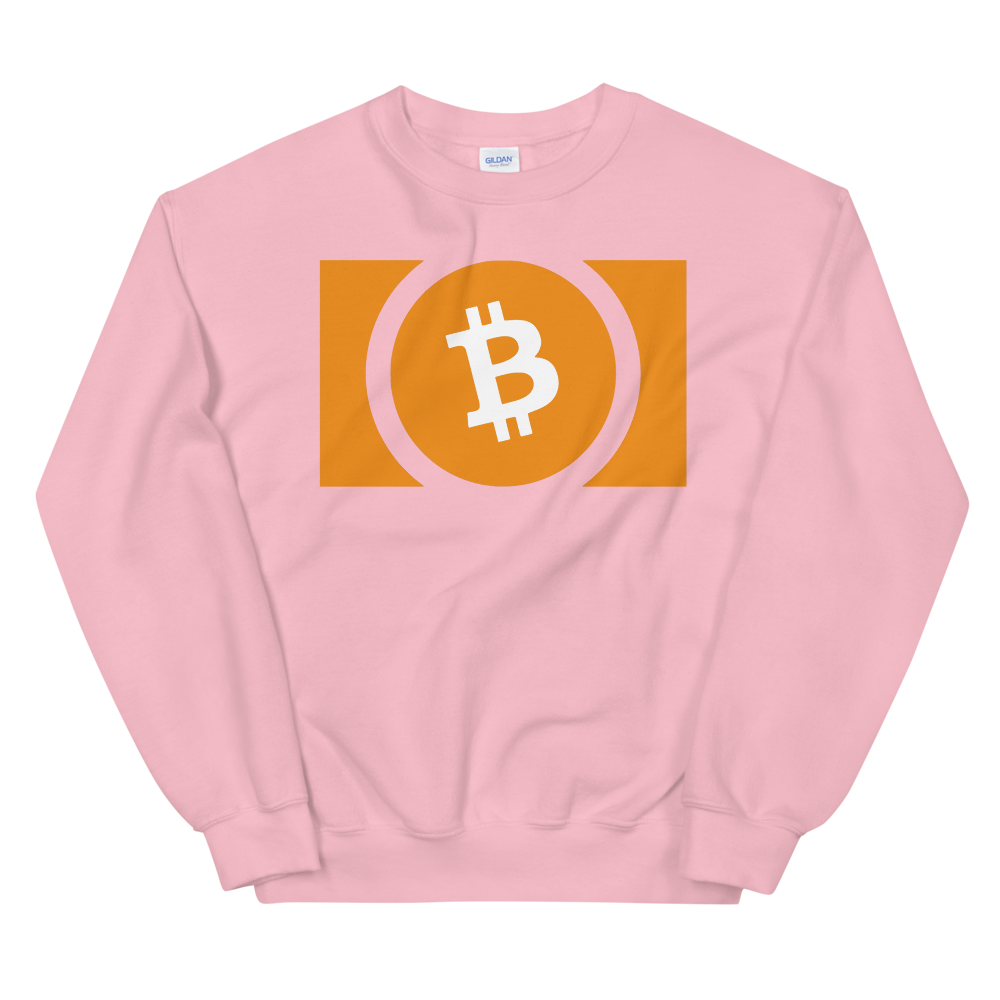 Bitcoin Cash Sweatshirt Light Pink S - zeroconfs