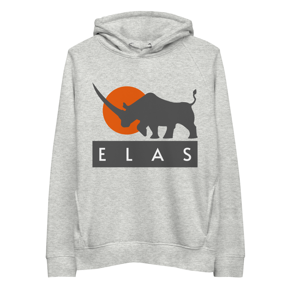 ELAS Digital Premium Eco Hoodie Heather Grey S - zeroconfs