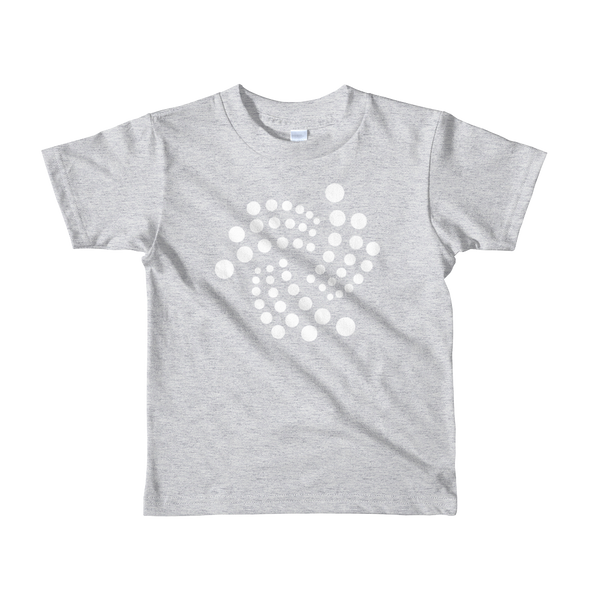 IOTA Short Sleeve Kids T-Shirt Heather Grey 2yrs - zeroconfs