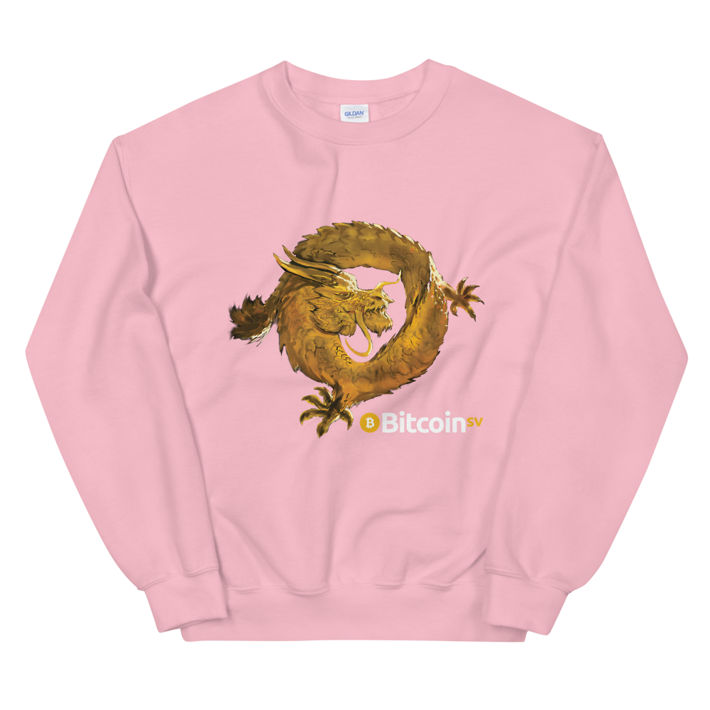 Bitcoin SV Woken Dragon Women's Sweatshirt Light Pink S - zeroconfs