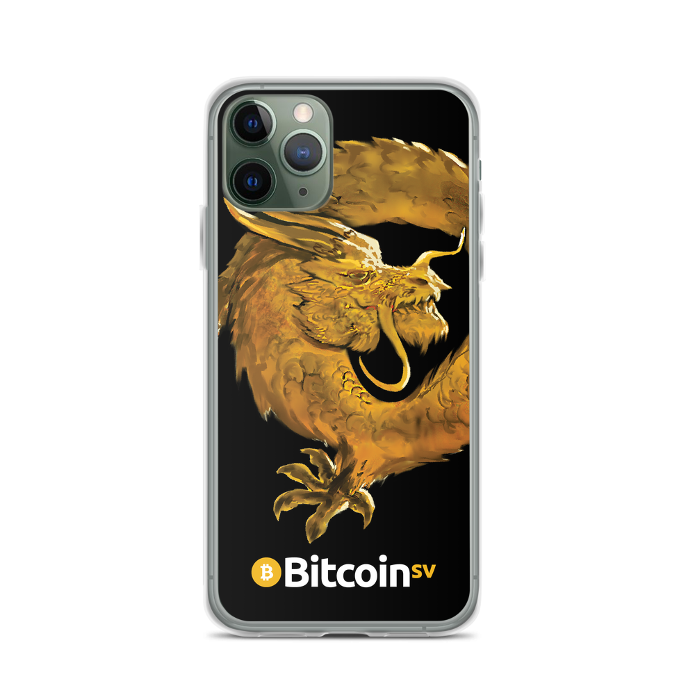 Bitcoin SV Woken Dragon iPhone Case Black iPhone 11 Pro  - zeroconfs