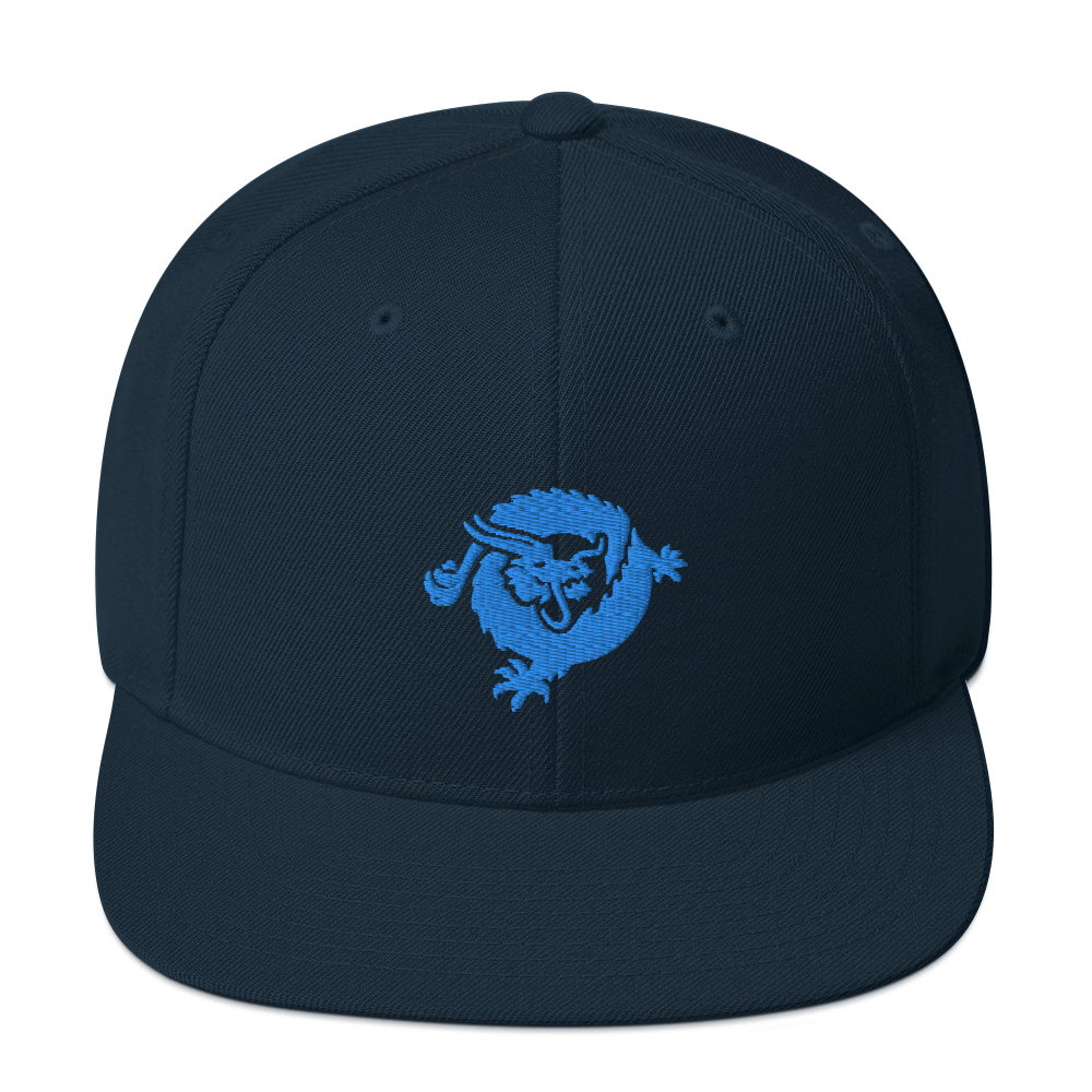 Bitcoin SV Dragon Snapback Hat Blue Dark Navy  - zeroconfs