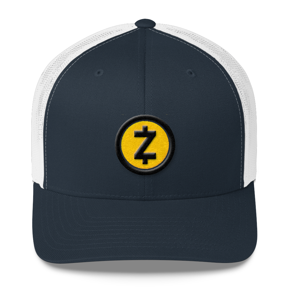 Zcash Trucker Cap Navy/ White  - zeroconfs