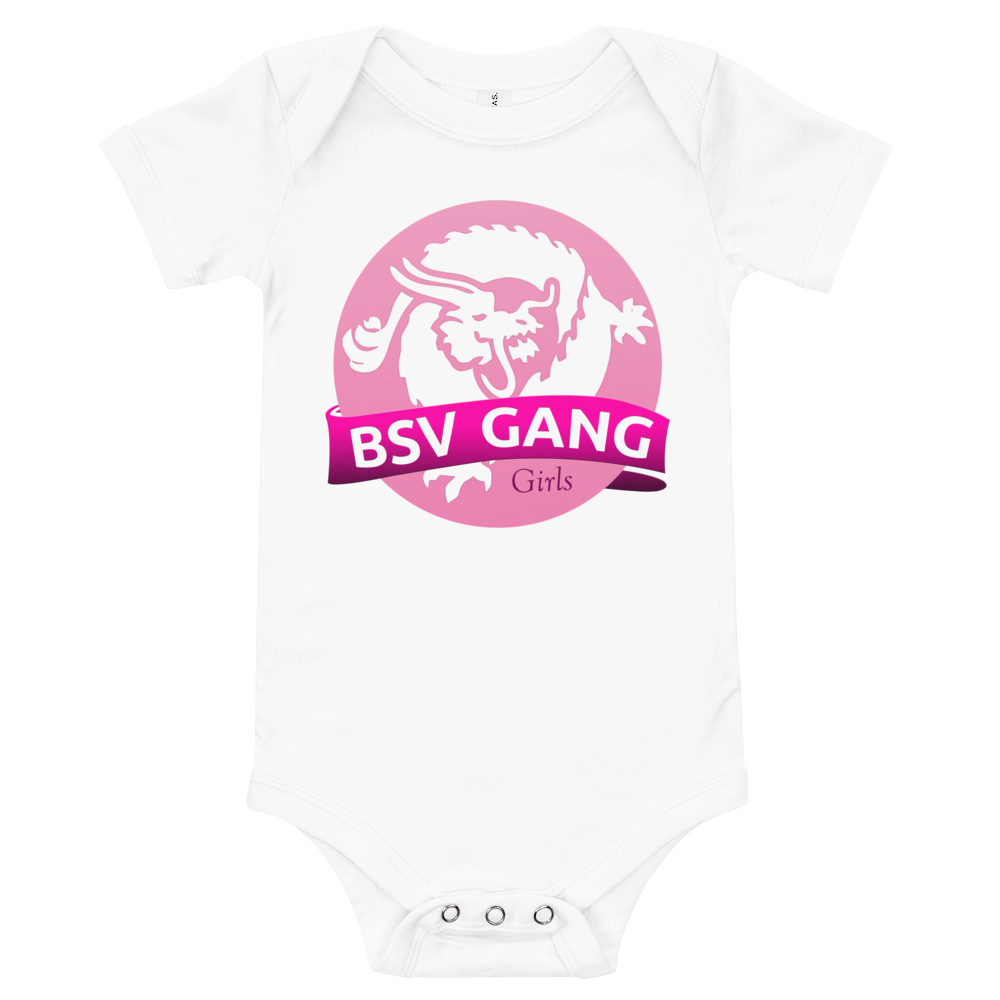 Bitcoin SV Gang Girls Baby Bodysuit White 3-6m - zeroconfs