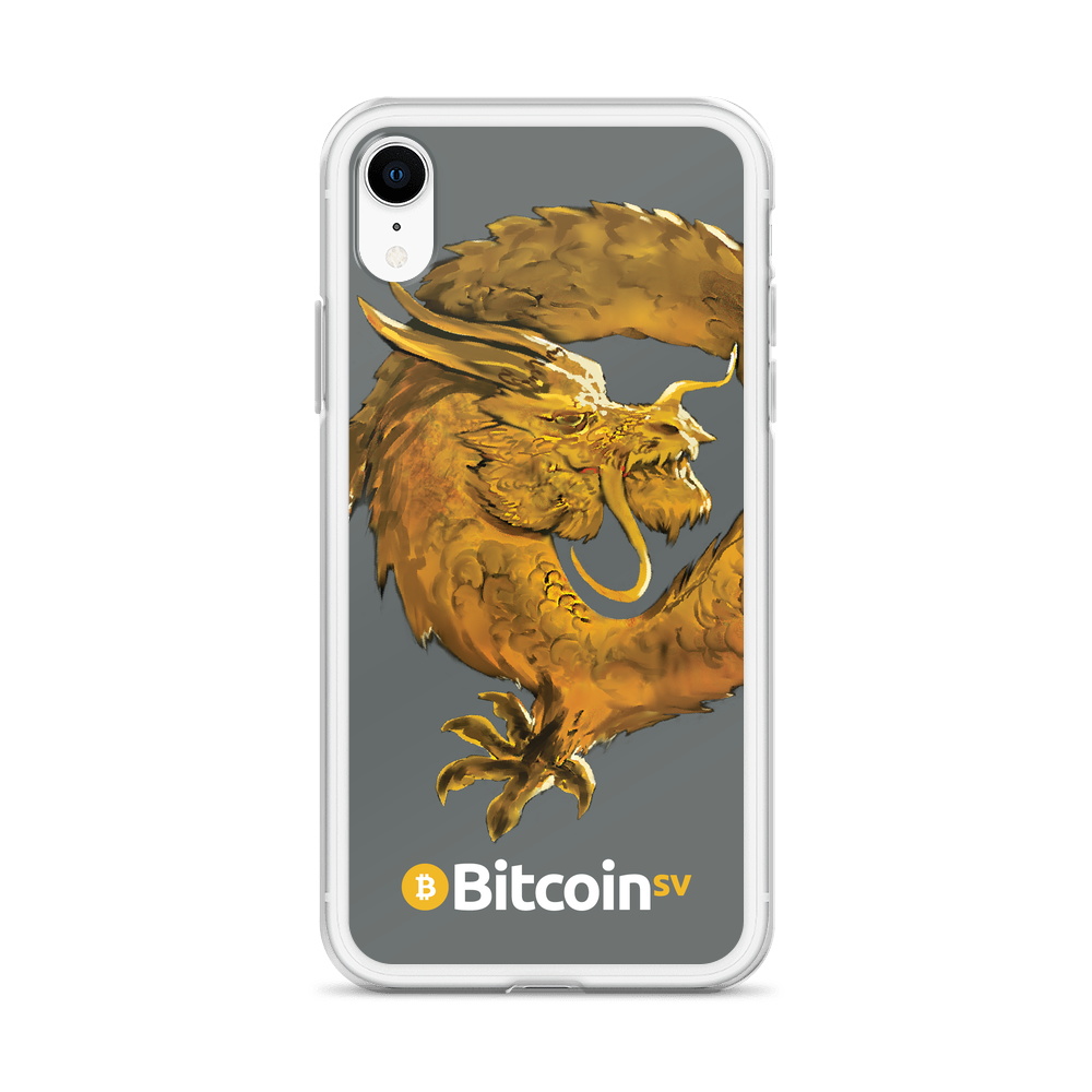 Bitcoin SV Woken Dragon iPhone Case Gray   - zeroconfs
