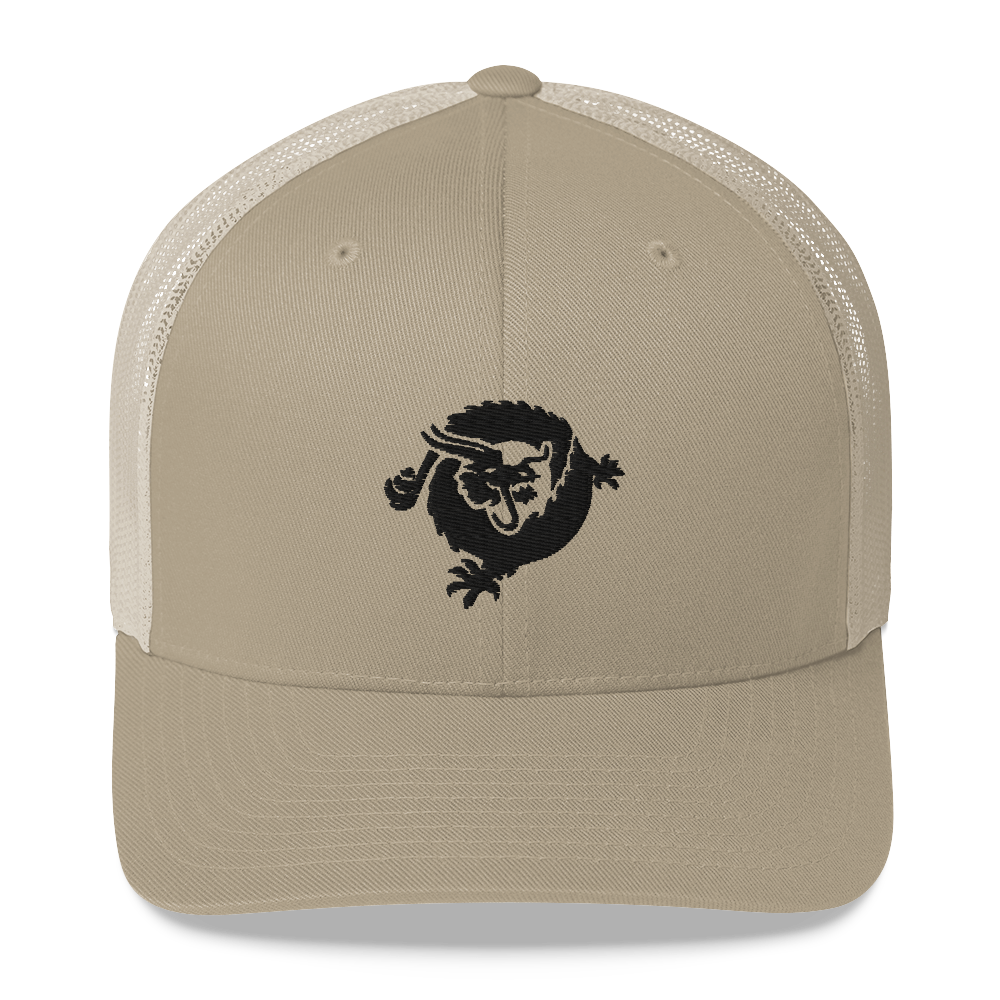 Bitcoin SV Dragon Trucker Cap Black Khaki  - zeroconfs