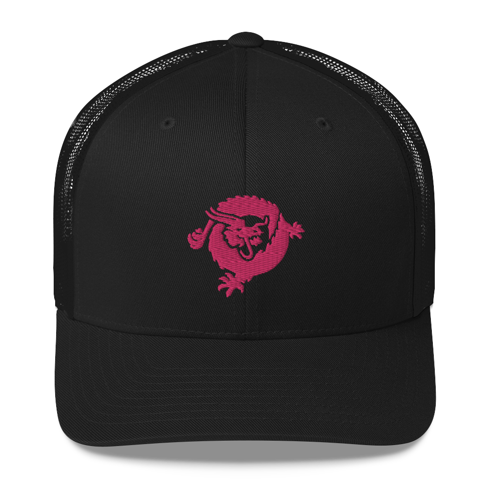 Bitcoin SV Dragon Trucker Cap Pink Black  - zeroconfs