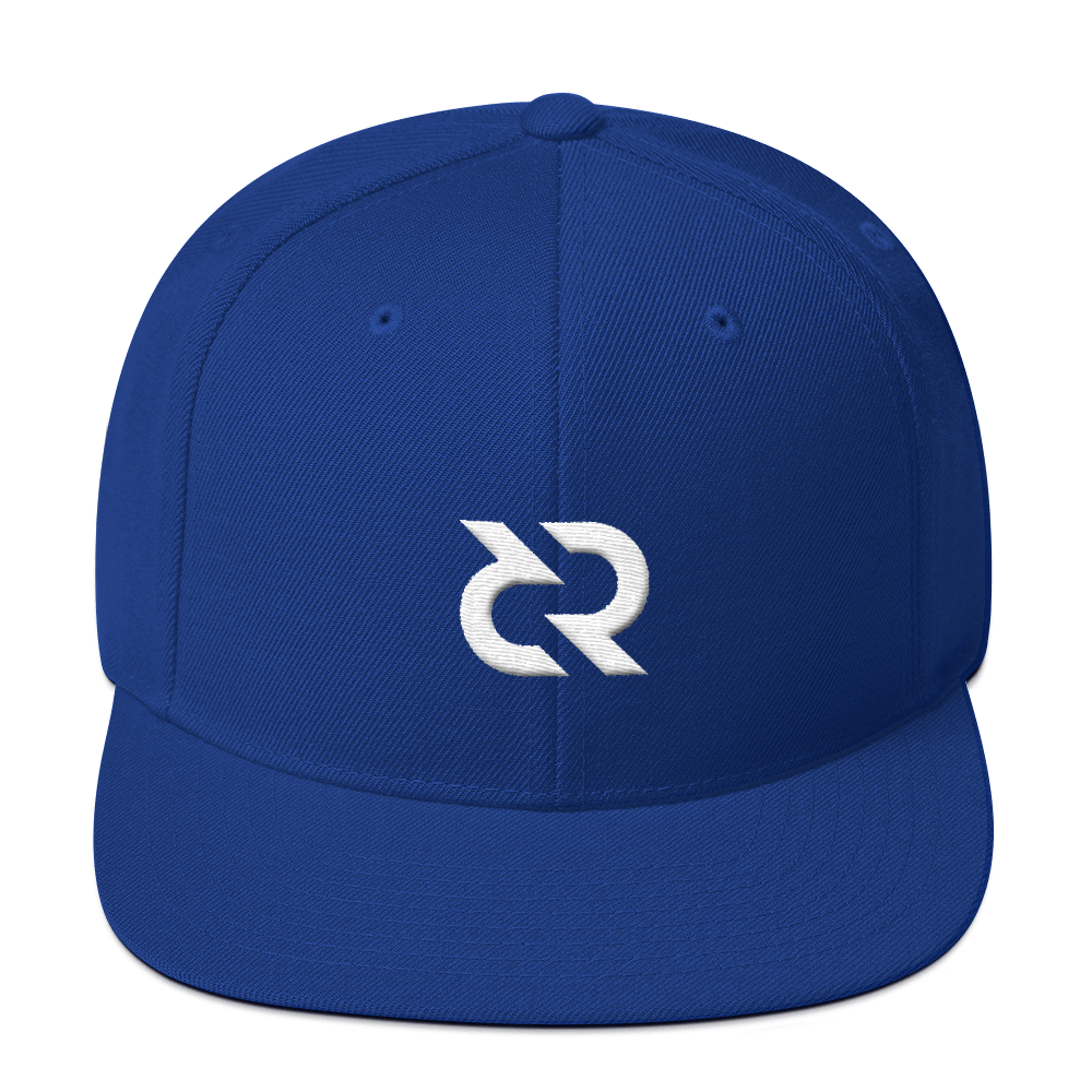 Decred Snapback Hat Royal Blue  - zeroconfs