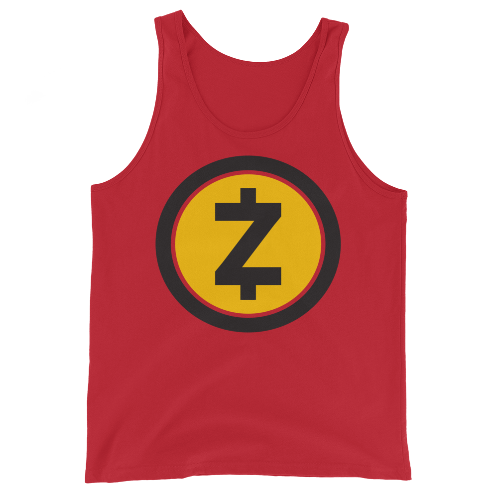Zcash Tank Top Red XS - zeroconfs