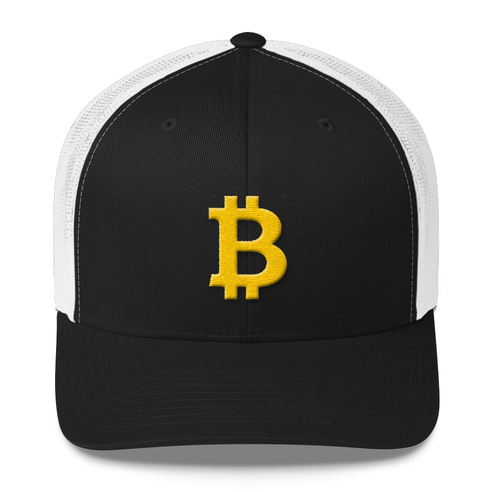 Bitcoin B Trucker Cap Black/ White  - zeroconfs