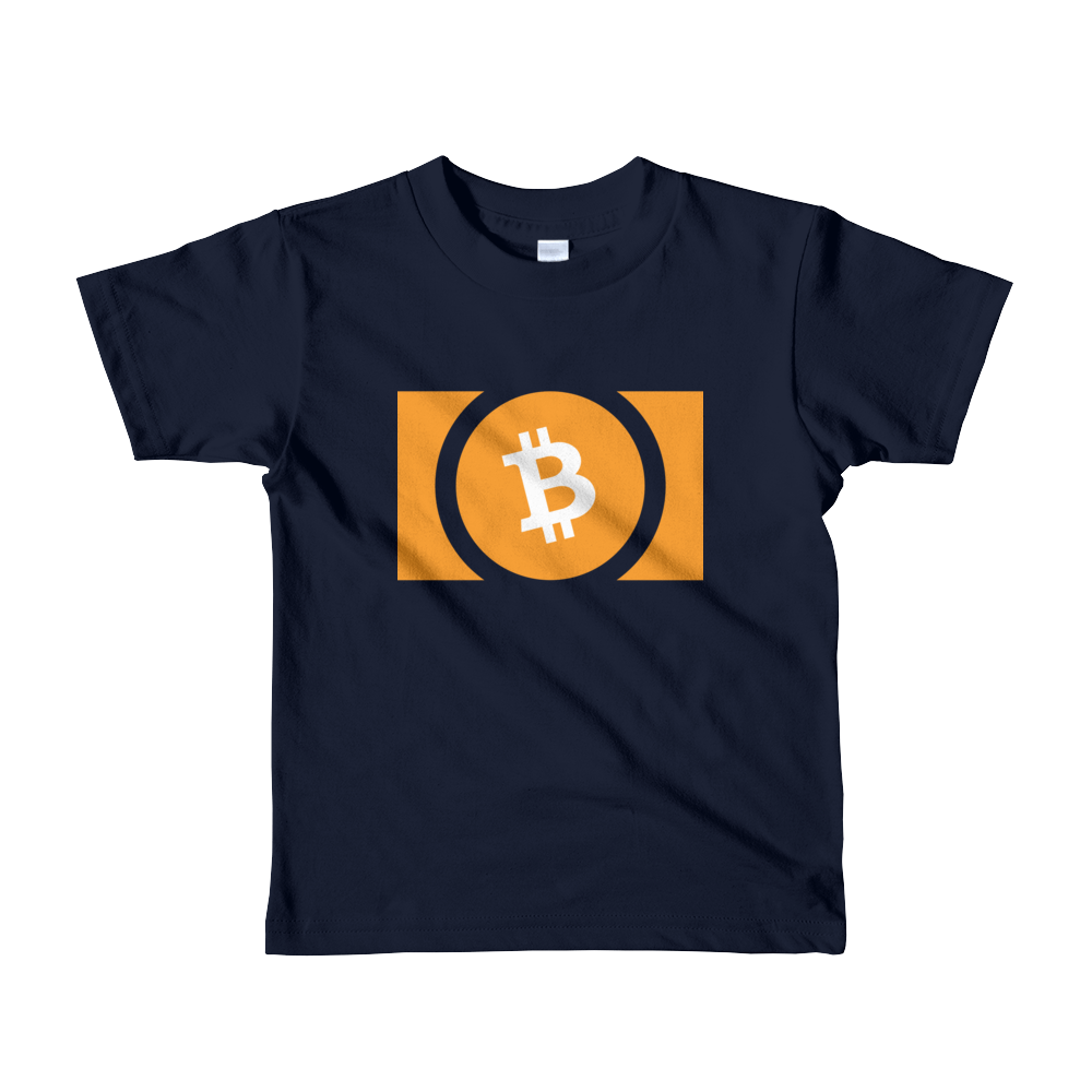 Bitcoin Cash Short Sleeve Kids T-Shirt Navy 2yrs - zeroconfs