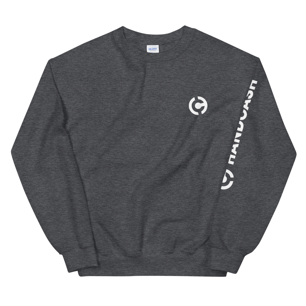 HandCash Official Licensed Sweatshirt Dark Heather S - zeroconfs