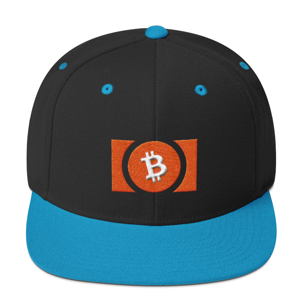 Bitcoin Cash Snapback Hat Black/ Teal  - zeroconfs