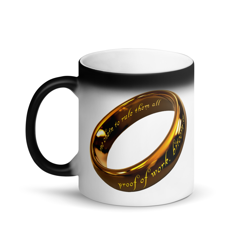 One Chain To Rule Them All Bitcoin SV Magic Mug   - zeroconfs