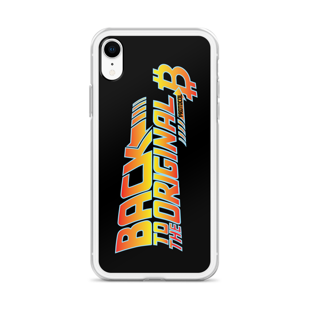 Back To The Original Bitcoin Protocol iPhone Case Black   - zeroconfs