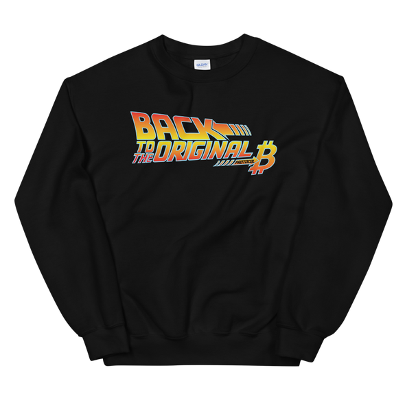 Back To The Original Bitcoin Protocol Sweatshirt Black S - zeroconfs