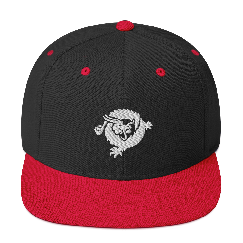 Bitcoin SV Dragon Snapback Hat White Black/ Red  - zeroconfs