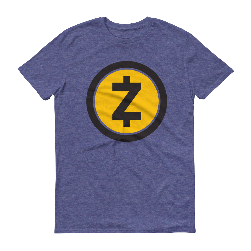 Zcash Short-Sleeve T-Shirt Heather Blue S - zeroconfs