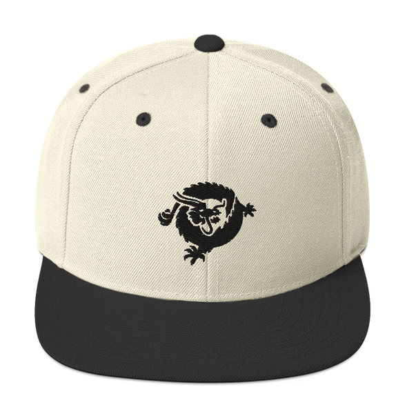 Bitcoin SV Dragon Snapback Hat Black Natural/ Black  - zeroconfs