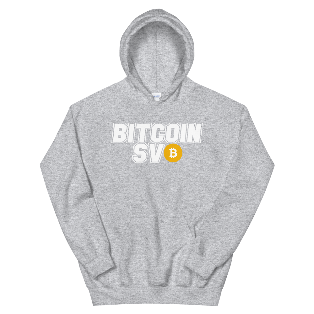 Bitcoin SV Sports Hooded Sweatshirt Sport Grey S - zeroconfs