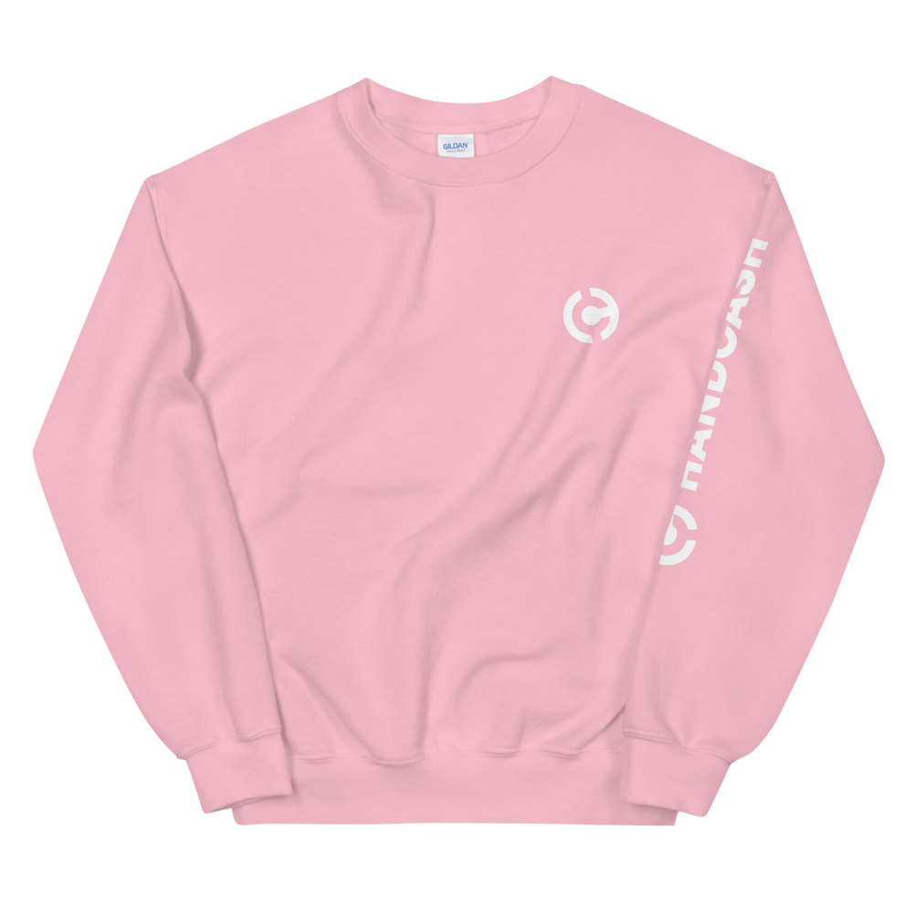 HandCash Official Licensed Sweatshirt Light Pink S - zeroconfs