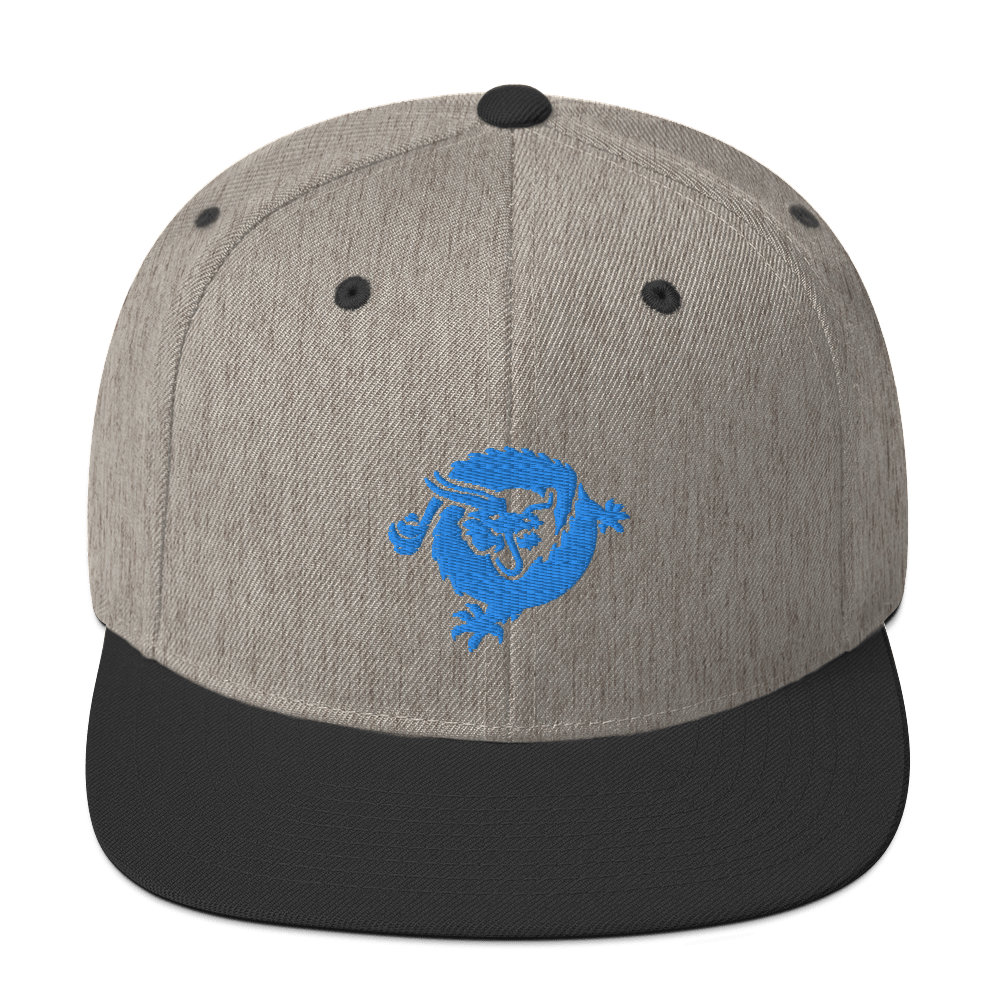 Bitcoin SV Dragon Snapback Hat Blue Heather/Black  - zeroconfs
