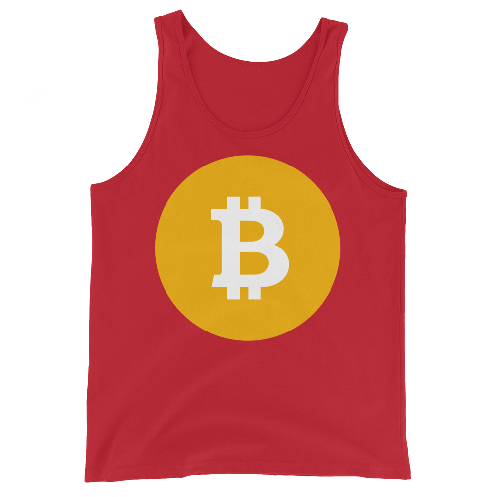 Bitcoin SV Logo Tank Top Red XS - zeroconfs