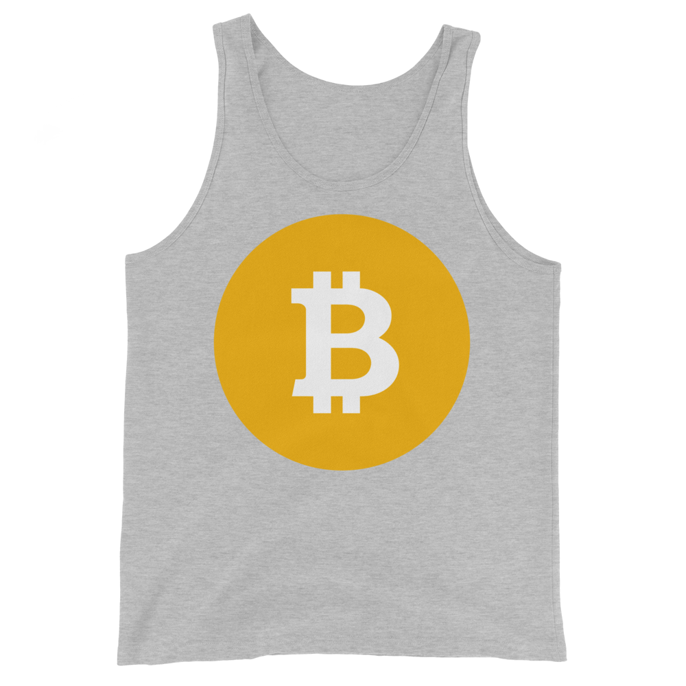 Bitcoin SV Logo Tank Top Athletic Heather XS - zeroconfs