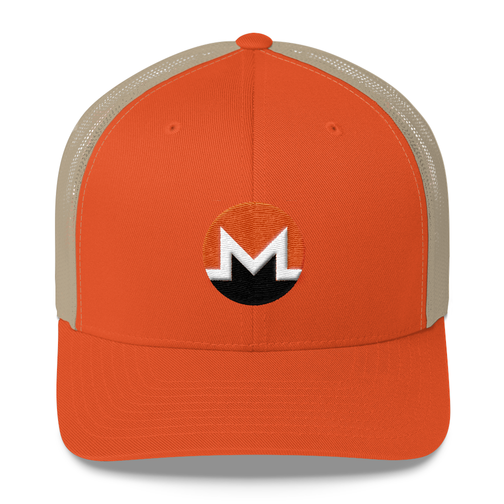 Monero Trucker Cap Rustic Orange/ Khaki  - zeroconfs