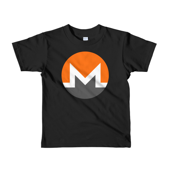 Monero Short Sleeve Kids T-Shirt Black 2yrs - zeroconfs