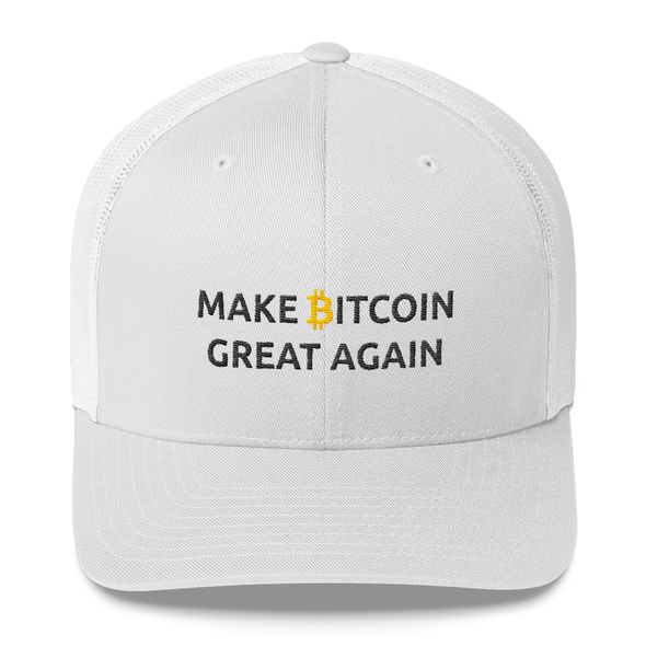 Make Bitcoin Great Again Trucker Cap White  - zeroconfs
