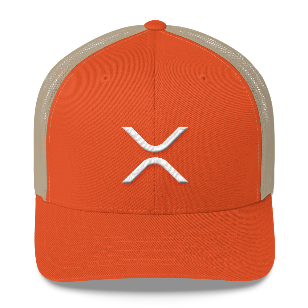 Ripple Trucker Cap Rustic Orange/ Khaki  - zeroconfs
