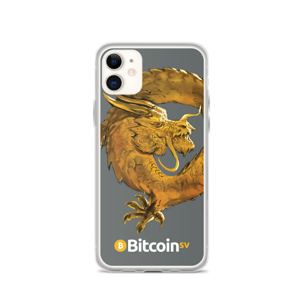 Bitcoin SV Woken Dragon iPhone Case Gray iPhone 11  - zeroconfs