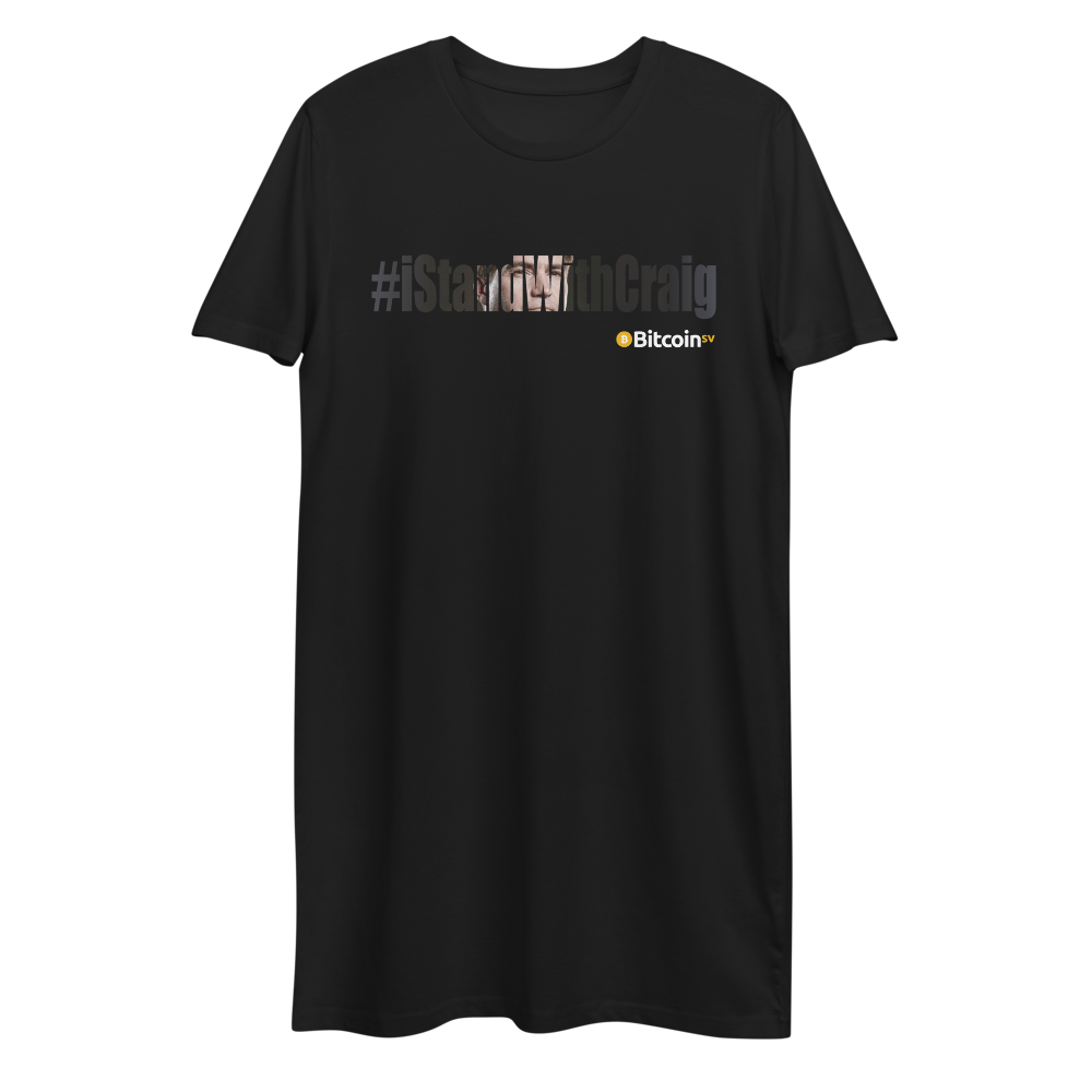 #IStandWithCraig Bitcoin SV Premium T-Shirt Dress Black XS - zeroconfs