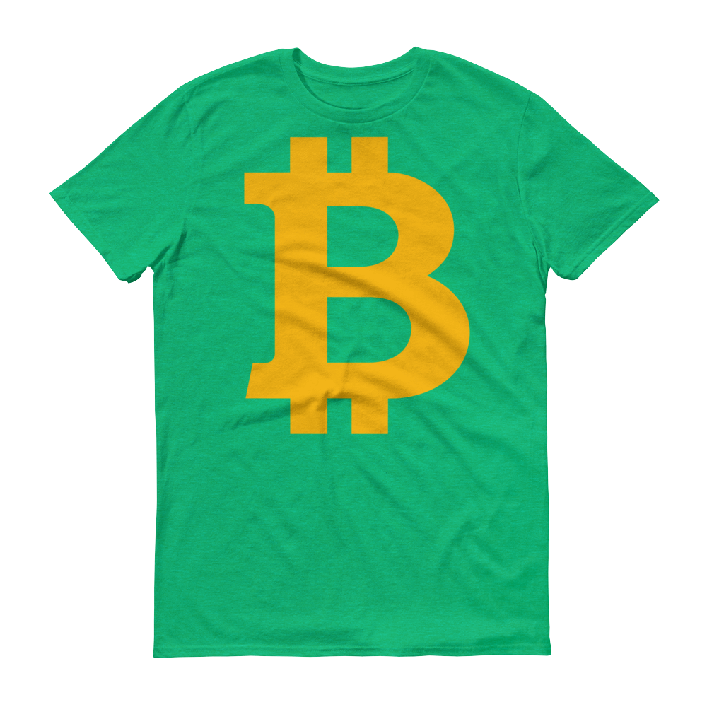 Bitcoin B Short-Sleeve T-Shirt Heather Green S - zeroconfs