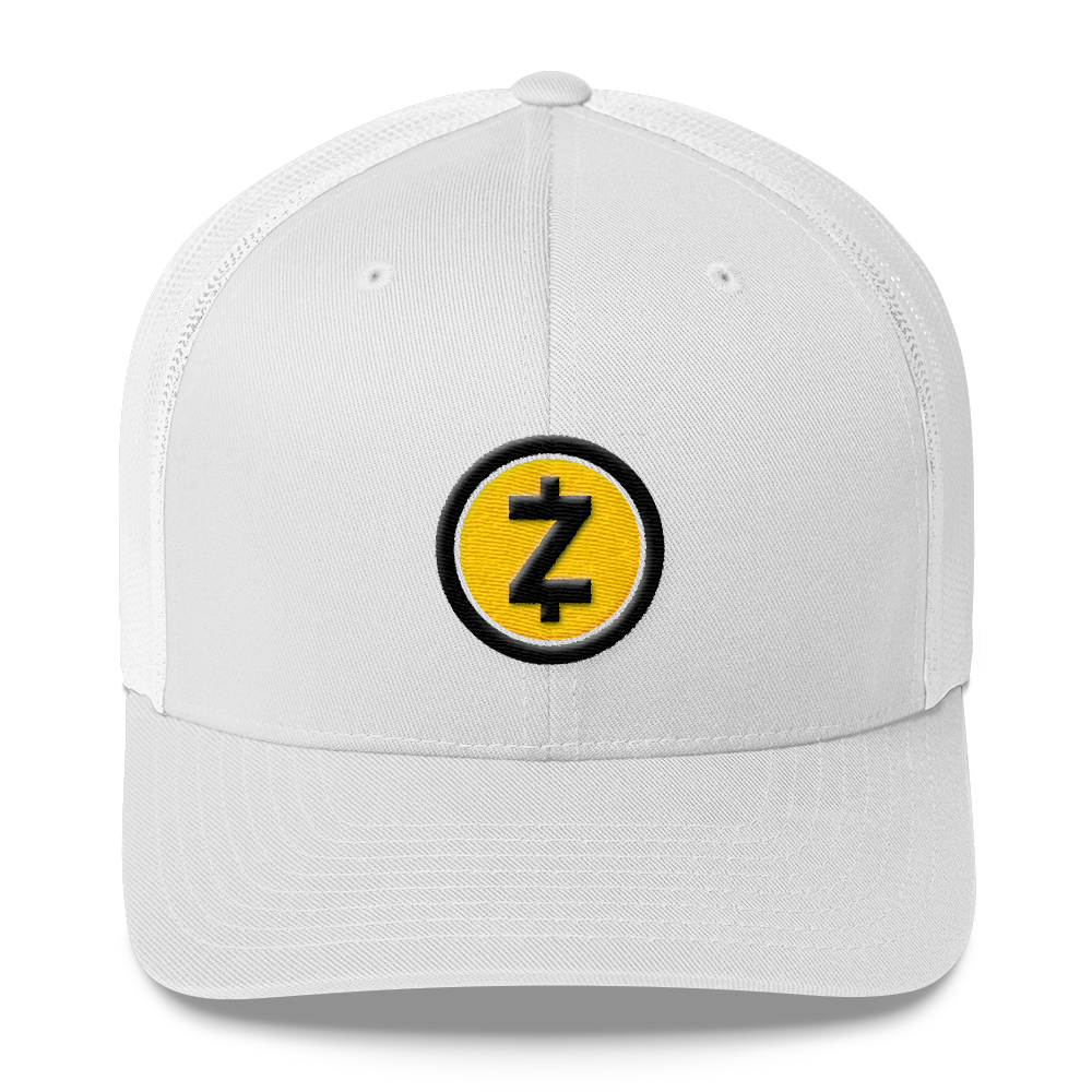 Zcash Trucker Cap White  - zeroconfs