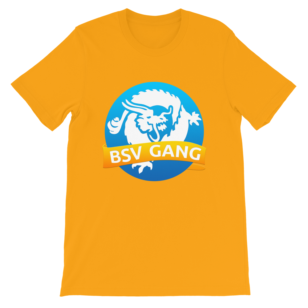 Bitcoin SV Gang Short-Sleeve T-Shirt Gold S - zeroconfs