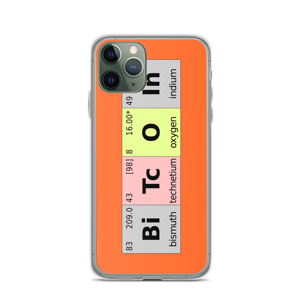 Bitcoin Periodic Table iPhone Case iPhone 11 Pro  - zeroconfs