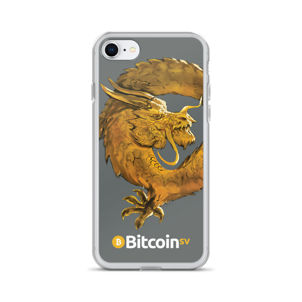 Bitcoin SV Woken Dragon iPhone Case Gray iPhone 7/8  - zeroconfs