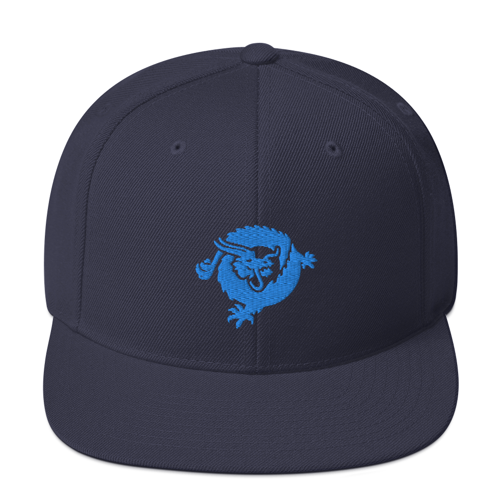 Bitcoin SV Dragon Snapback Hat Blue Navy  - zeroconfs
