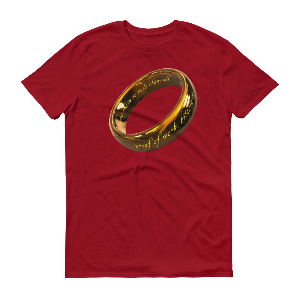 One Chain To Rule Them All Bitcoin SV Short-Sleeve T-Shirt Independence Red S - zeroconfs