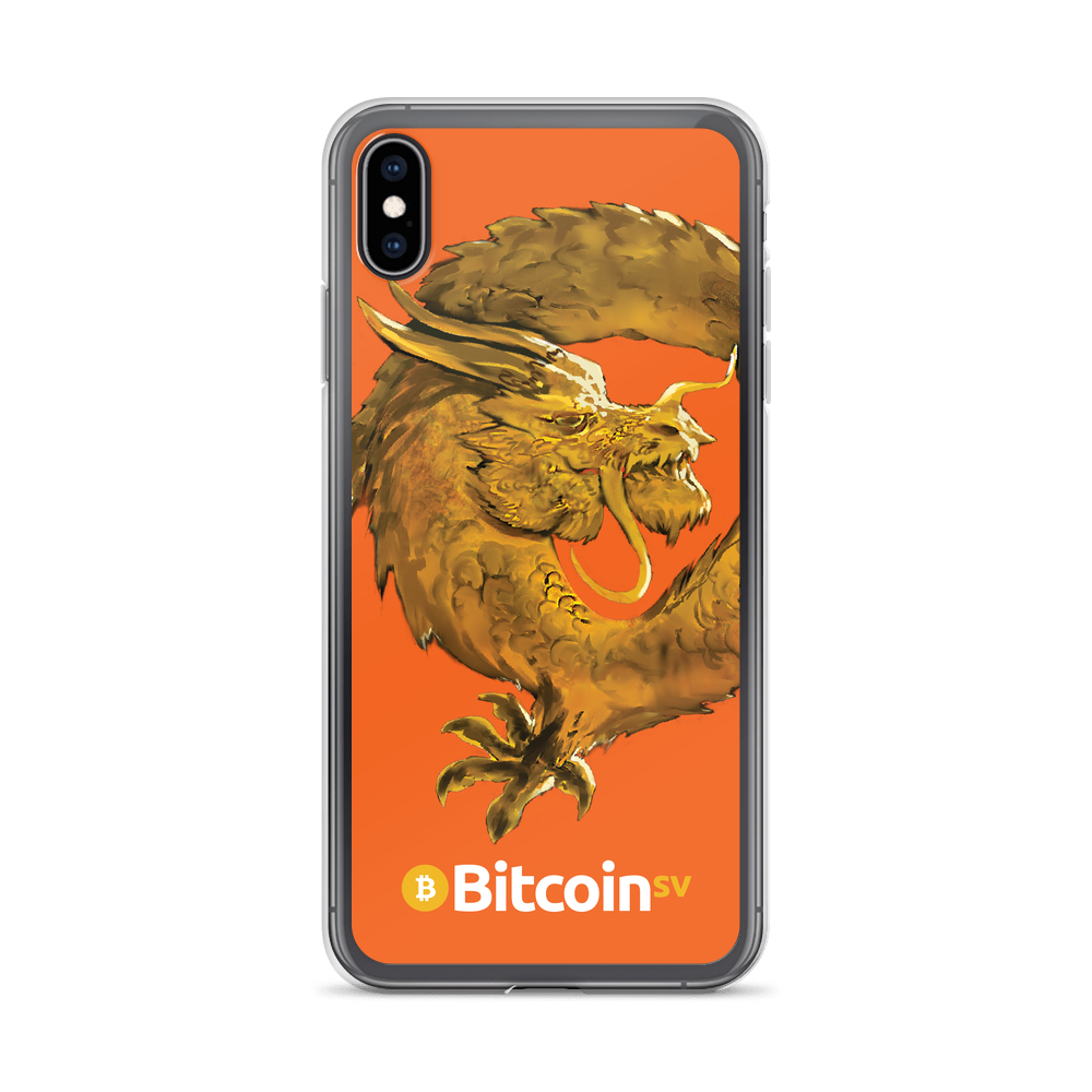 Bitcoin SV Woken Dragon iPhone Case Orange iPhone XS Max  - zeroconfs