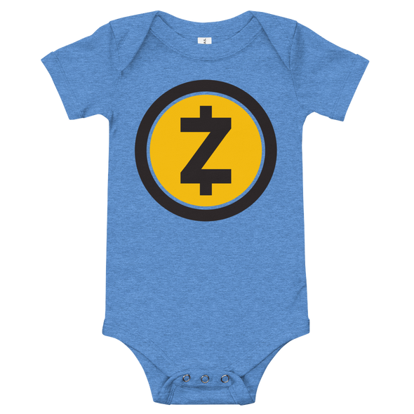 Zcash Baby Bodysuit Heather Columbia Blue 3-6m - zeroconfs
