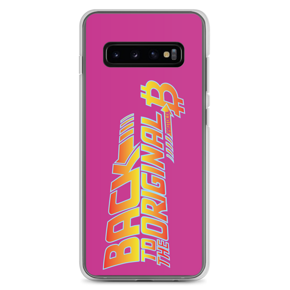 Back To The Original Bitcoin Protocol Samsung Case Pink Samsung Galaxy S10+  - zeroconfs